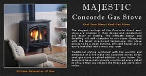 Majestic Concorde Direct Vent Gas Stove Adams Stove