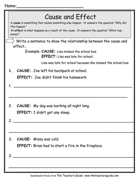 free reading worksheets from the s guide