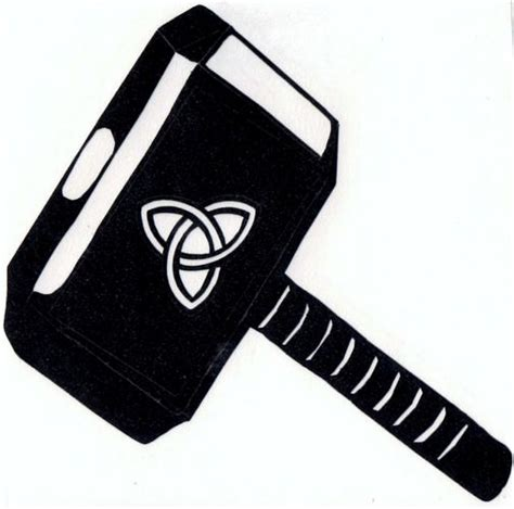 thor hammer silhouette google search silhouette projects ideas ephemera pinterest