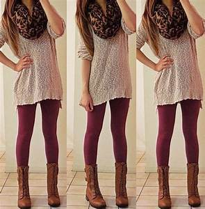Best 25+ Burgundy leggings ideas on Pinterest | Burgundy jeans Holiday outfits women christmas ...
