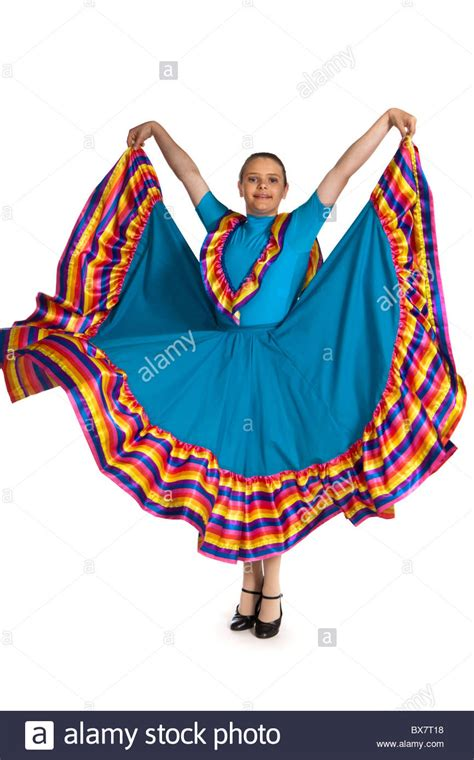Young girl in a traditional Mexican national dance costume Stock Photo 33363940 - Alamy