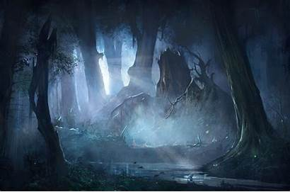 Forest Fantasy Mysterious Night Wallpapers Artistic Artwork