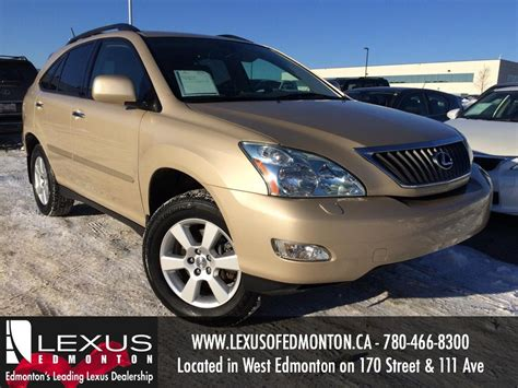 gold lexus rx used gold 2009 lexus rx 350 4wd review drumheller