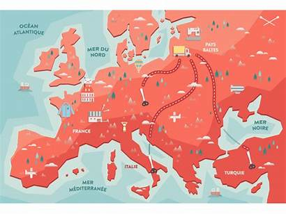 Map Animated Hast Europe Animation Micro Dribbble