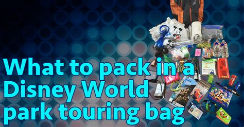 pack disney world park bag minimalists