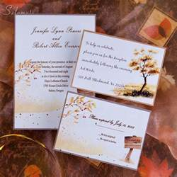 rustic wedding invitations cheap country side style gold rustic fall cheap wedding invitations ewi045 as low as 0 94