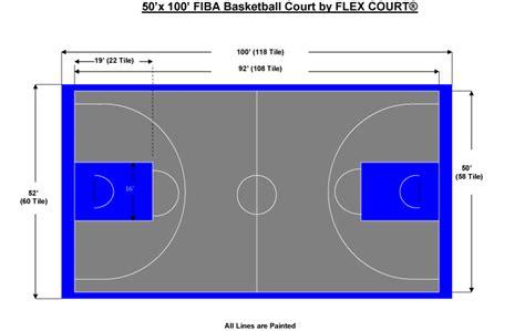 outdoor court dimensions 50 x 100 fiba sized basketball court backyard ideas pinterest basketball court and nba