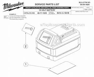 Milwaukee 48-11-1828 Parts List And Diagram