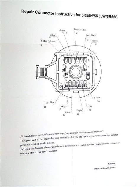 5r55 Solenoid Block Wiring Diagram by 5r55s 5r55w Wire Harness Repair Kit Fits Solenoid Pack