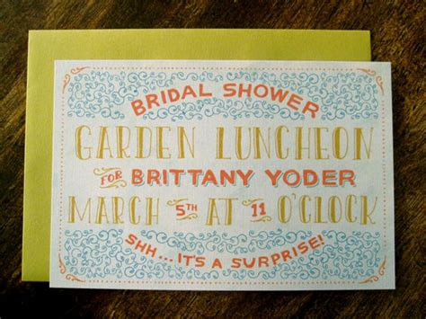 Whimsical Hand-lettered Bridal Shower Invites Cheap Living Room Furniture Massachusetts Latest Designs Victorian Chandelier Green Decor The Pictures Upper Prayer Center Desins Blinds Walmart