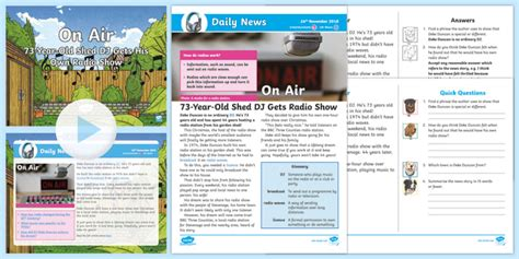 * New * Lks2 Shed Dj Daily News Resource Pack  Music, Radio, 20th Century