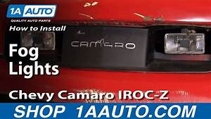 How To Install Repair Replace Fog Lights Chevy Camaro Iroc