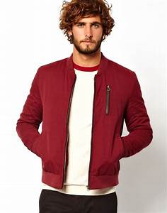 Asos Bomber Jacket in Red for Men | Lyst