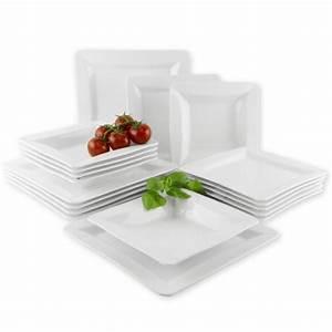 Geschirr Eckig Weiß : suleno geschirr set viola tafelservice 18 teilig eckig wei 6 personen teller ebay ~ Orissabook.com Haus und Dekorationen