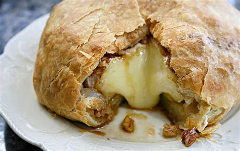 Brie en Croute with Brown Sugar, Bourbon and Pecans