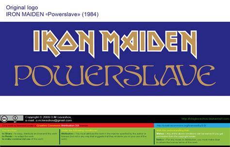 iron maiden powerslave  logo vector source