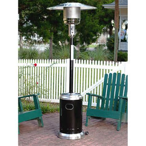 black stainless steel 46 000 btu commercial patio heater