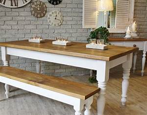 creative rustic dining room decoration with white false With dining room table bench seats