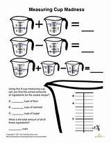 Worksheets Fractions Measuring Cups Worksheet Kitchen Culinary Activities Teaching Science Subtraction Education Measurement Cup Madness Cooking Grade Measurements Printable Baking sketch template