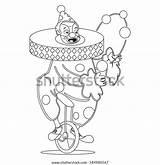 Clown Coloring Juggling Circus sketch template