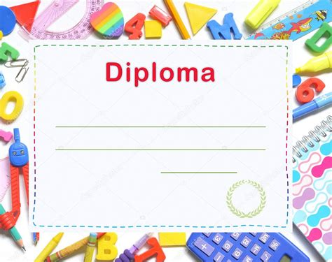 im 225 genes diplomas infantiles para personalizar diploma de preescolar de stock