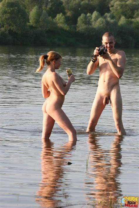 Naughty Naturists Having Nude Fun At The Lake
