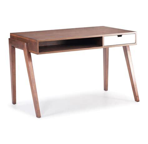 canada desk zuo modern linea desk walnut 199054 modern furniture