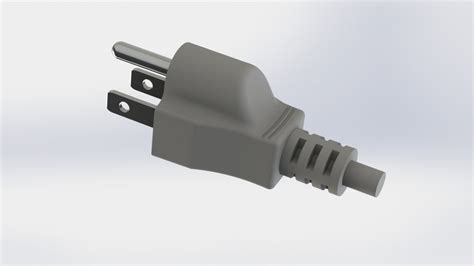 Ac Power Cord (electric Wire Plug End)  Three Prong