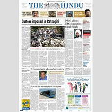 Newspaper The Hindu (india) Newspapers In India Wednesday's Edition, April 20 Of 2011 Kioskonet
