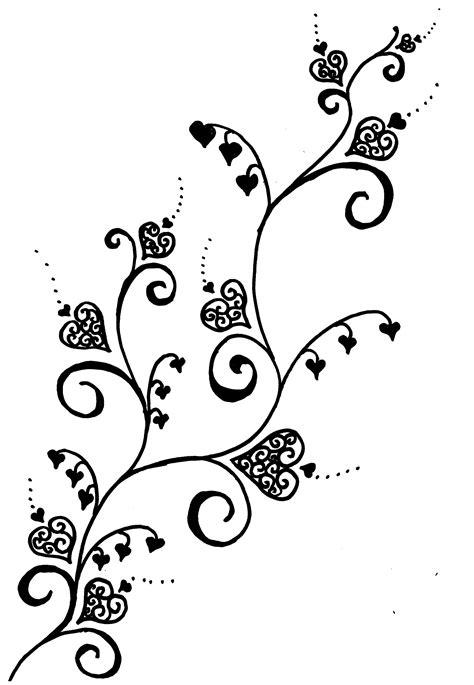 Cute filigree hearts would be ok on the foot scar tattoo... | Vine tattoos