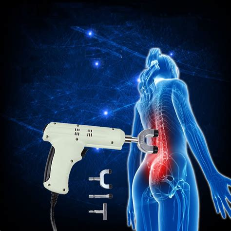 White Electric Chiropractic Adjusting Tool Therapy Spine