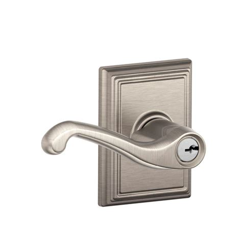 schlage collection satin nickel flair keyed entry