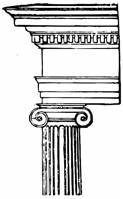 Ionic Column Capital Pixabay Order Clipart Columns