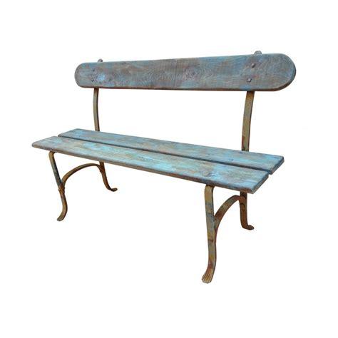 banc de jardin fer forg 233 et bois patin 233