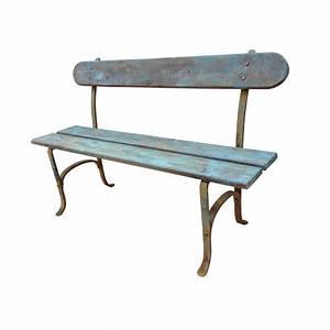 Banc De Jardin Bois : banc de jardin fer forg et bois patin ~ Dode.kayakingforconservation.com Idées de Décoration