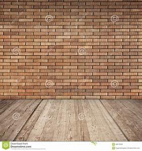 Mur Interieur En Bois De Coffrage : mur de briques rouge et plancher en bois int rieur vide ~ Premium-room.com Idées de Décoration