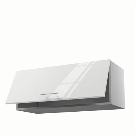 meuble de cuisine haut blanc 1 porte h35xl90xp35 cm