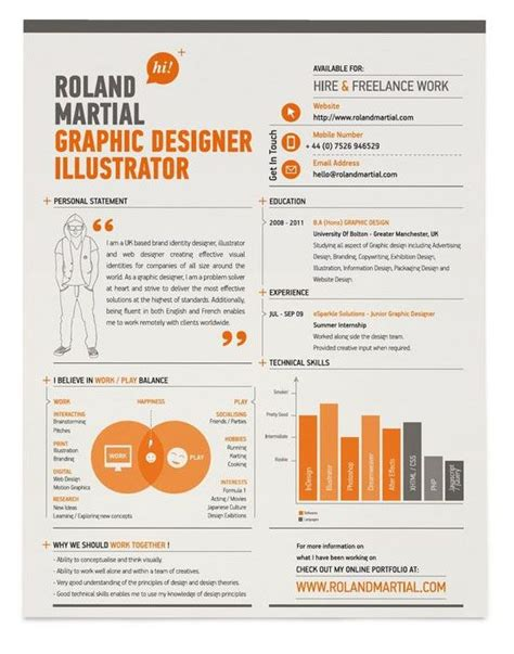 Designing Resume In Illustrator by Resume Infographic Resumes