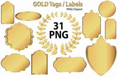 Tags Gold Labels Clip Market