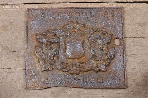 coultas  grantham cast iron plaque