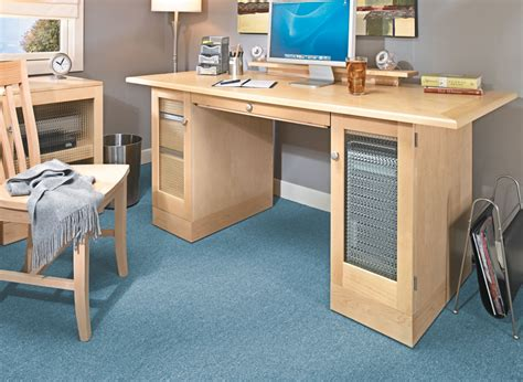 computer desk woodworking project woodsmith plans