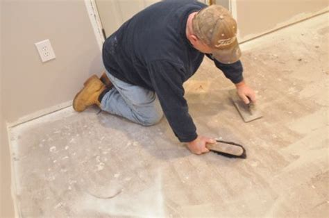 preparing osb subfloor for tile how to level a subfloor before laying tile one project