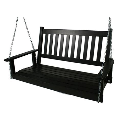 shop garden treasures 2 seat wood traditional swing at