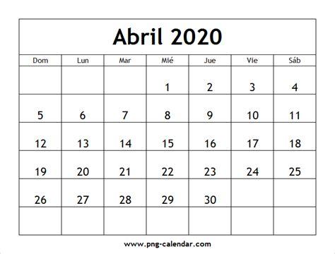abril calendario