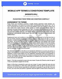 awesome terms conditions template ideas resume ideas With app terms and conditions template