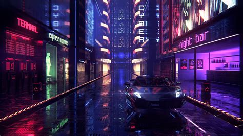 1080p Neon City Wallpaper by Neon Wallpapers Top Free Neon Backgrounds