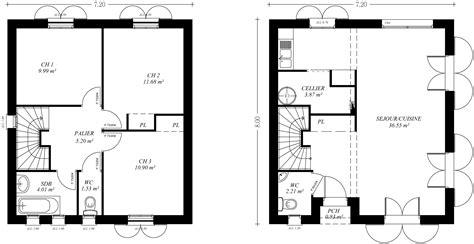 plan maison 3 chambres etage plan de maison de luxe etage chaios com