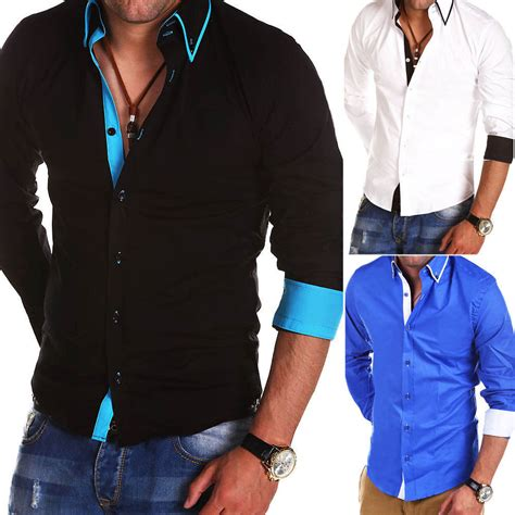 mens designer slim fit shirts casual shirt  shirt polo
