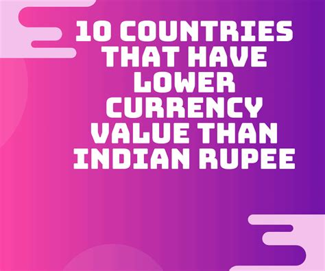 The indian rupee is the currency in india (in, ind). 10 Countries that have lower Currency Value than Indian ...