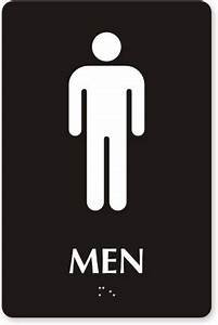 Restroom signs bathroom signs for Male female bathroom sign images